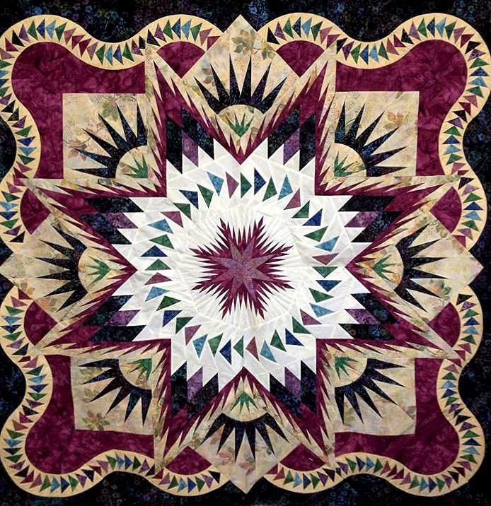 Galcier star quiltworx com made by nancy isser strath in a