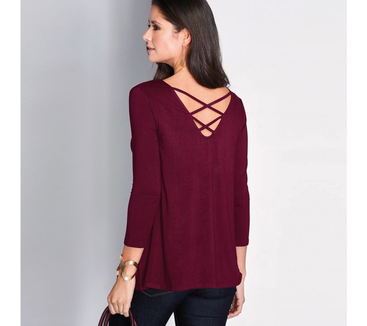 Rozšířené tričko s překříženými šňůrkami vzadu | modino.cz #modino_cz #modino_style #style #fashion #newseason #autumn #fall