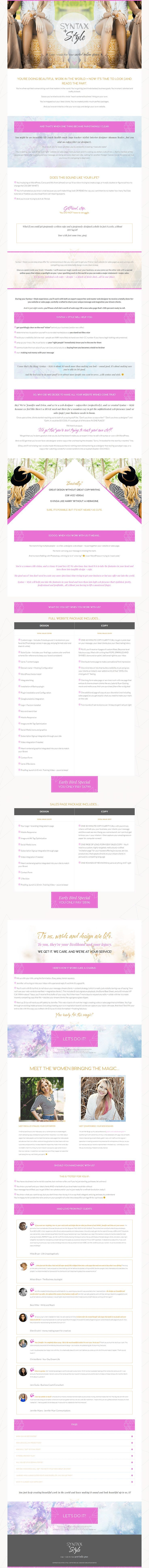 20 best sales page design images on pinterest design websites sales page inspiration syntax and style by coral antler creative fandeluxe Image collections