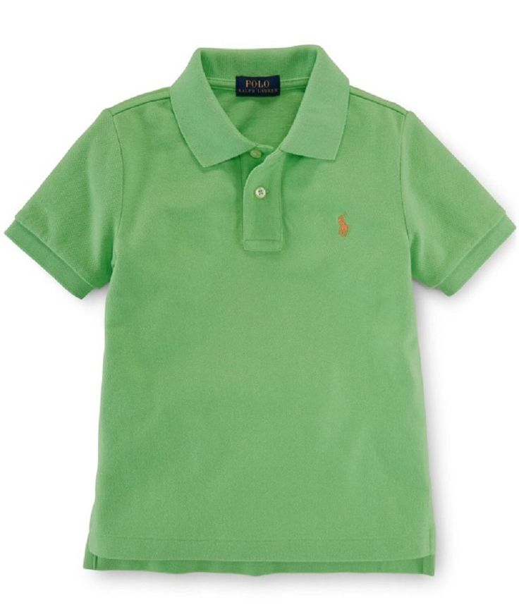 Ralph Lauren Boys Tennis Tail Polo Shirt (3/3T, Ultra Lime). MSRP: $ 35.00. Cotton. Imported. Machine washable. Short sleeves with ribbed armbands.