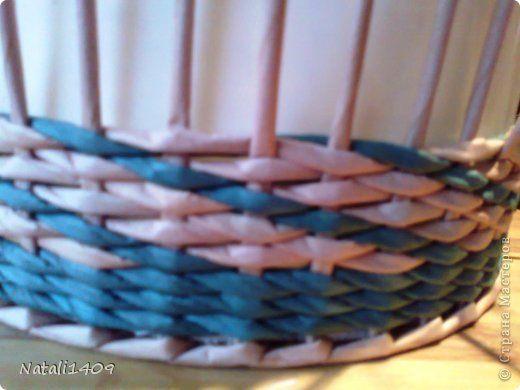 Поделка изделие Декупаж Плетение Два в одном Бумага газетная Салфетки Трубочки бумажные фото 5
