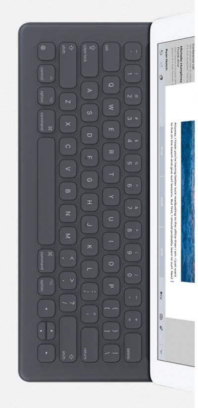 Apple's Smart Keyboard is a full size keyboard that will join the Apple Pencil stylus as the new accessories designed specifically 12.9-inch iPad Pro