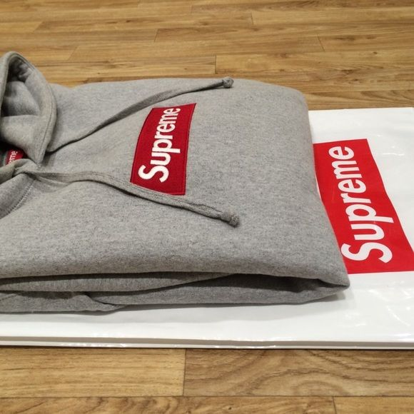 Supreme box logo grey Brand new comes from smoke free home authentic meet ups preferred but willing to negotiate Supreme Sweaters