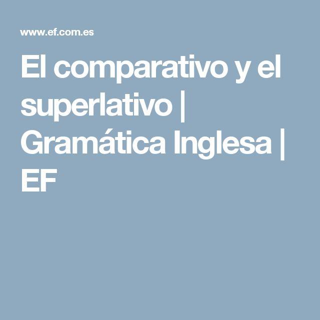 El comparativo y el superlativo   Gramática Inglesa   EF