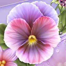Moonbeam's Summer Pansies 2D 3D Models moonbeam1212