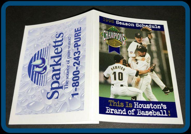 1998 houston astros sparkletts pure water baseball pocket