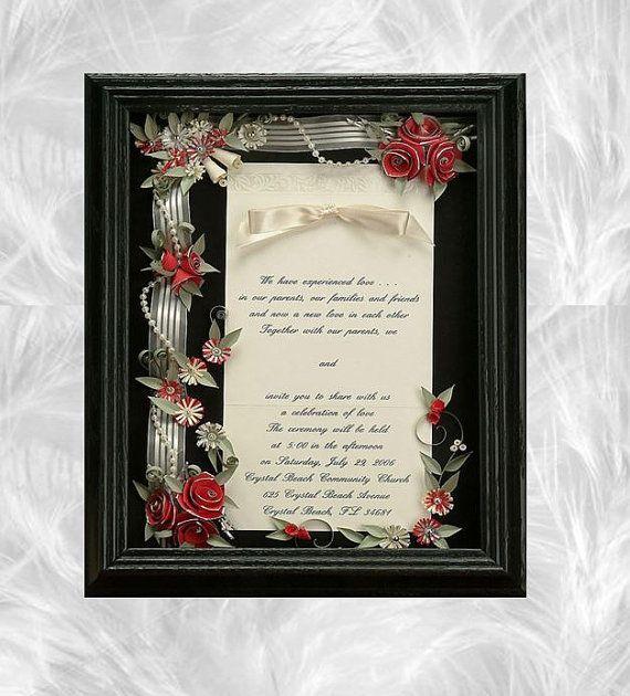 Framed Wedding Invitation Shadow By ALLINVITATIONSFRAMED