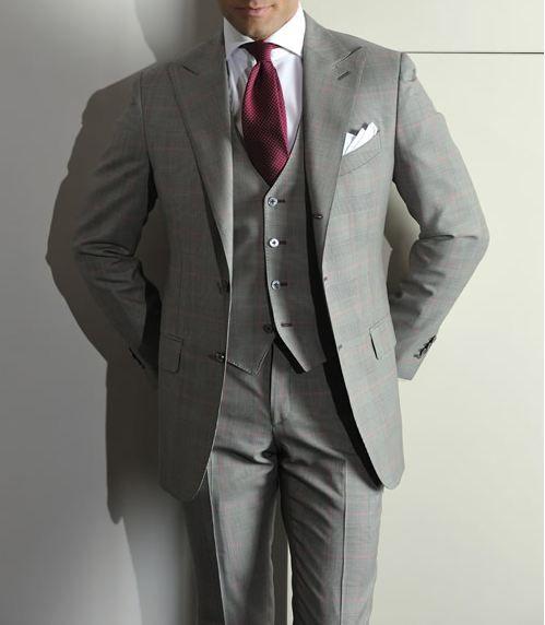 Grey suite (with purple or olive green tie) | Garden Wedding ...