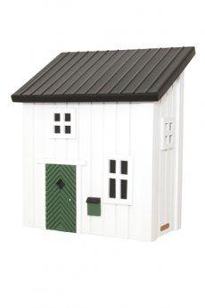 """Cassetta Postale bianca"""", cassetta postale dalle linee semplici ma curate nel dettaglio - progettata e sviluppata in Svezia - dotata di coperchio interno con serratura (lucchetto non incluso) - dipinta con colori ecocompatibili, resistenti all'esterno - Materiali: legno di pino con tetto in metallo"""