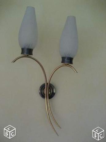 Applique en métal doré vintage années 50 / Vaison-la-Romaine 84110 / 25€ envoi possible
