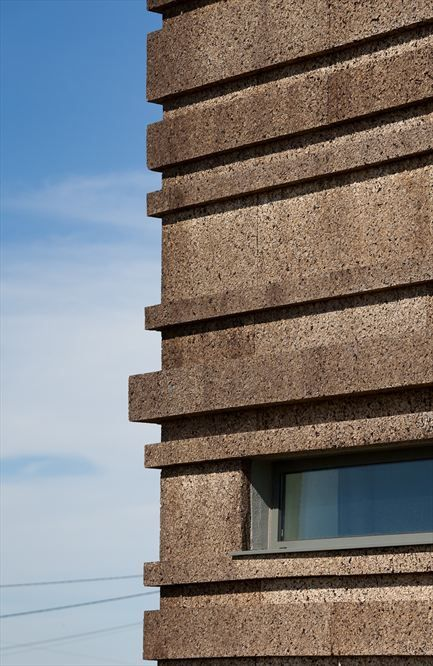 Cork Facade - Logowines Winery by PMC Arquitectos