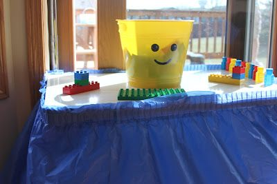 Kara's Creative Place: The Lego Birthday Party~ May make some of these buckets just to store Lego's