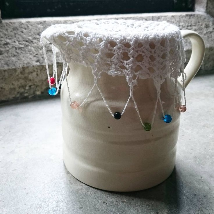 We on Facebook: http://ift.tt/2jRHDjd Beautiful Beaded Jewelry #underbeads by @underbeads Check our #AmazingPhoto WEBSTA: Pretty jug cover at Lanhydrock on display what an ingenious idea to weigh it down with the beads! Might try this  #lace #crochet #beadcrochet #nationaltrust #Cornwall #Lanhydrock