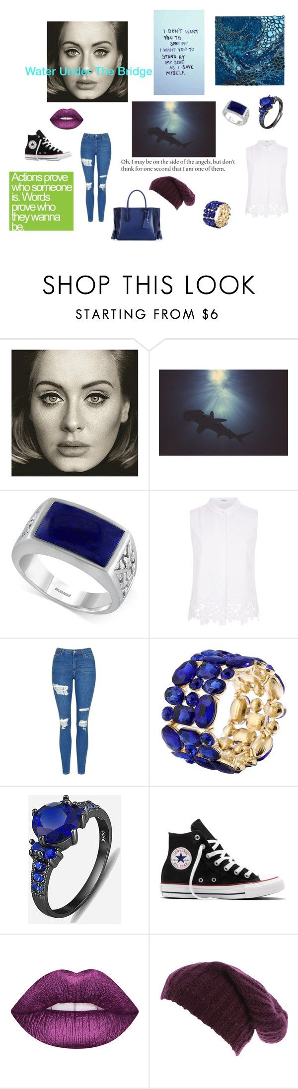 """""""Lesser Known Book Ships + Song: Nere & Dai"""" by aspen-amber ❤ liked on Polyvore featuring Effy Jewelry, Elie Tahari, Topshop, Converse and Longchamp"""