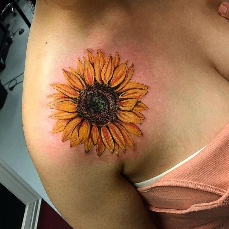 "369 Likes, 24 Comments - Tianna Osborne (@tiannaos) on Instagram: ""@klockwork_tattoo_club #sunflowertattoo"""