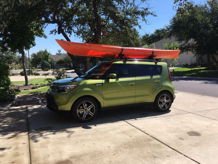 2016 Kia Soul W/ SSD Roof Rack, Thule Crossbars And Olde Town Kayak. |  Kayaks | Pinterest | Kia Soul, Roof Rack And Car Camper