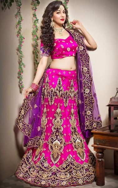 Picture of Aesthetic Fuchsia Color Designer Lehenga Choli