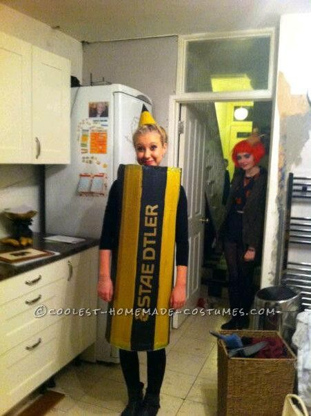 The 26 best costumes images on pinterest children costumes easy last minute homemade pencil costume solutioingenieria Choice Image