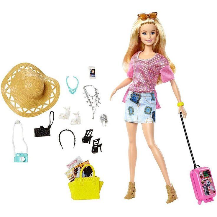 NEW! 2016 Barbie Vacation Travel Doll Set #Mattel