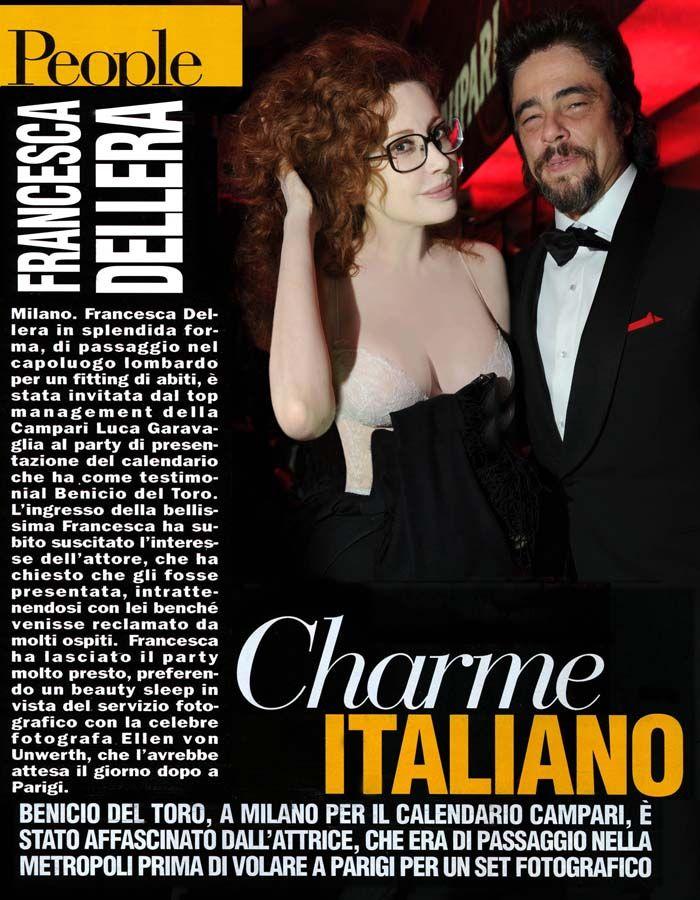 People magazine Francesca Dellera and Benicio Del Toro