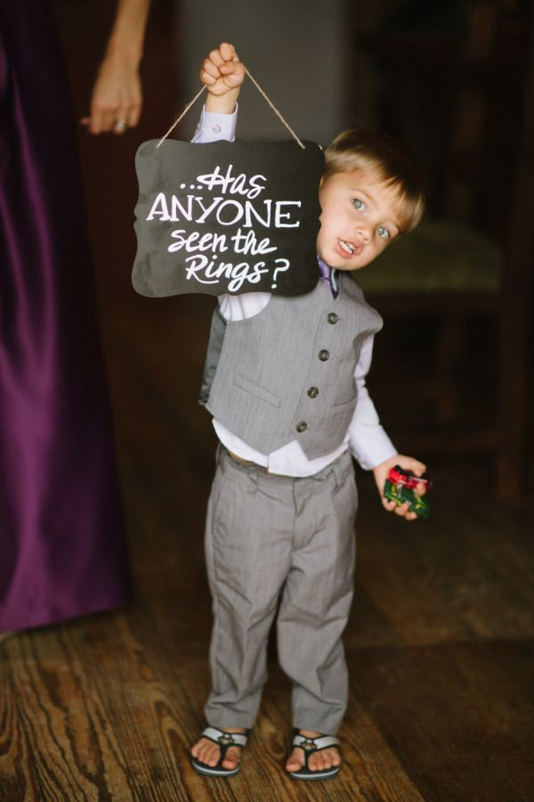 How adorable is this ring bearer? http://www.stylemepretty.com/colorado-weddings/2015/08/06/rustic-summer-wedding-at-catamount-ranch/ | Photography: Andy Barnhart - http://www.andybarnhart.com/