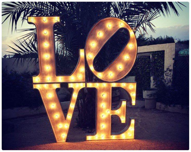 letras luminosas para bodas - Buscar con Google