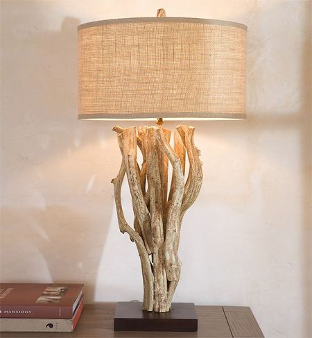 bright and modern driftwood desk. Driftwood bedside lamp for my room  445 best art images on Pinterest ideas