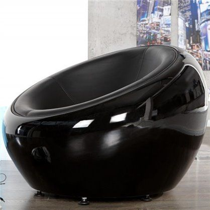 Fotel Lounge Ball black