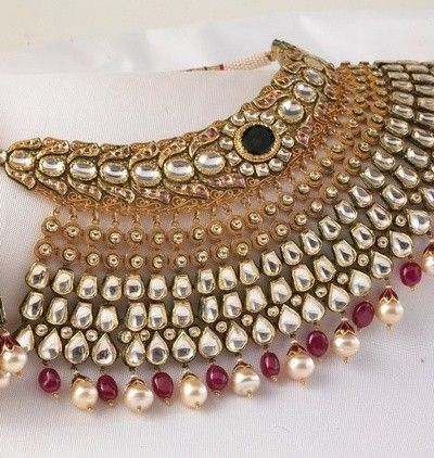 Kundan and Polki Choker #Necklace for Indian, Pak #Weddings