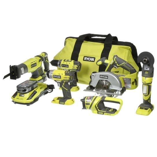 Ryobi ONE+ 18-Volt Lithium-Ion Ultimate Combo Kit (6-Tool) P884 at The Home Depot - Mobile