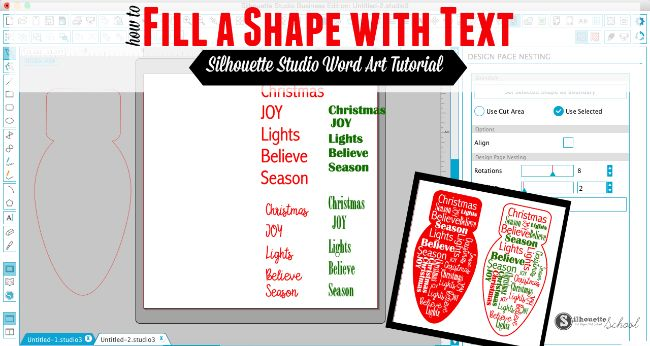 Silhouette Studio Word Art: How to Have Text Form a Shape (Free Cut File) | Silhouette School | Bloglovin'