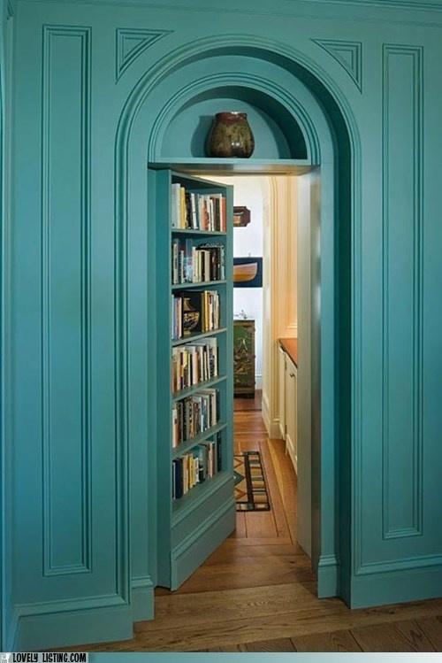 Beautiful hidden door bookcase!