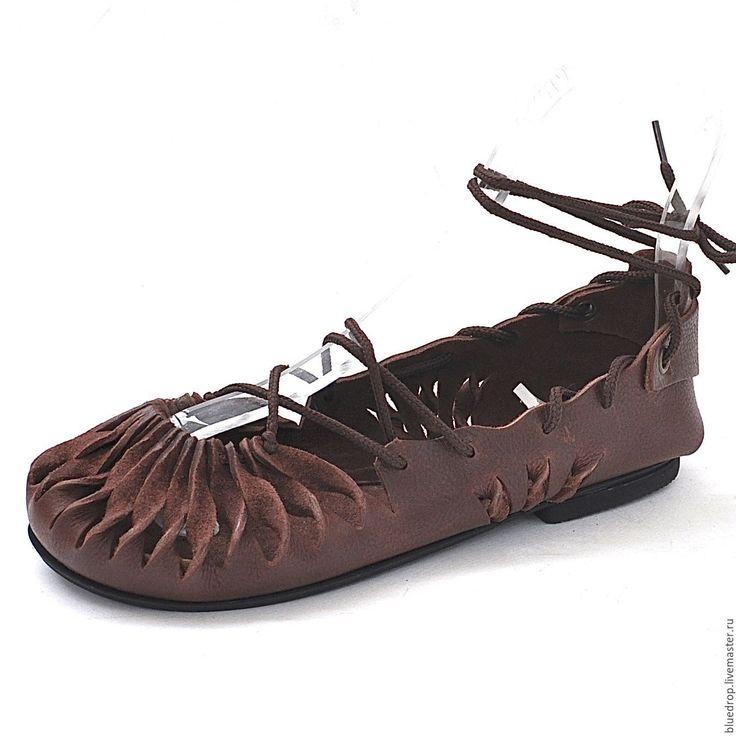 Купить Мокасины на шнуровке - коричневый, кожа, кожаные мокасины, женские мокасины, летние туфли