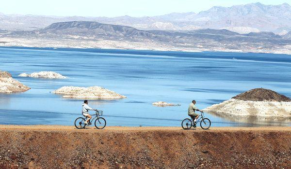 River Mountains Bike Trail - Outside of Las Vegas. Lake Meade area