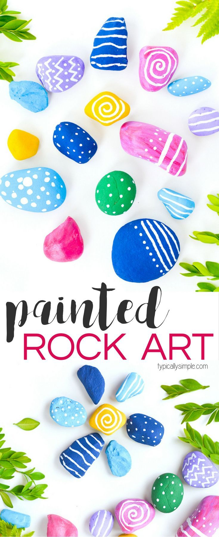 Get creative with this painted rock art project. This is the perfect craft for kids when camping, at the cabin, or just in the backyard!