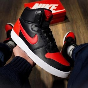 Residente codicioso Subvención  SIZE 9 MENS NIKE EBERNON MID BLACK / RED #shoes #fashion #accessories  #clothing #sneakers | Black and red, Nike men, Nike