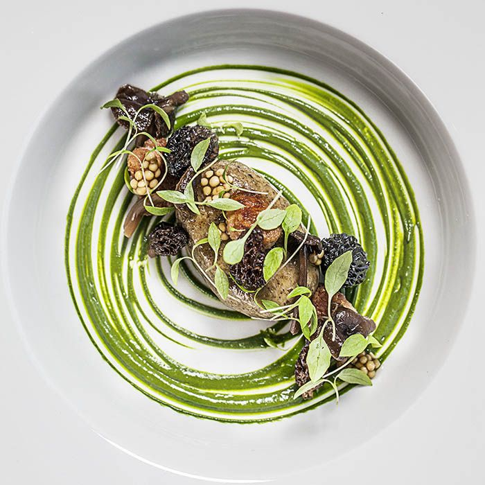 """""""Lamb - Morels - Parsley"""" by chef Bryan Francisco at Restaurant TreeTop in Vejle, Denmark"""