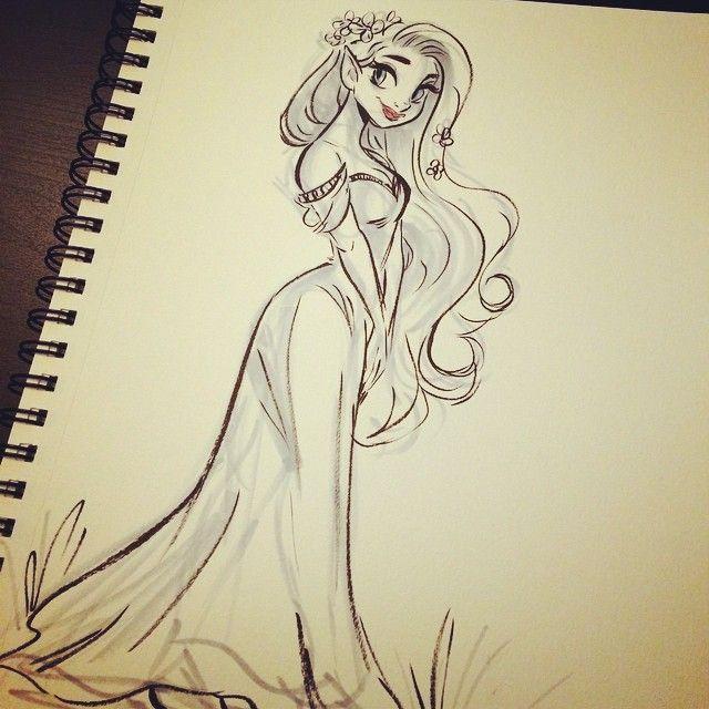 #inktober 19! Elfy lady