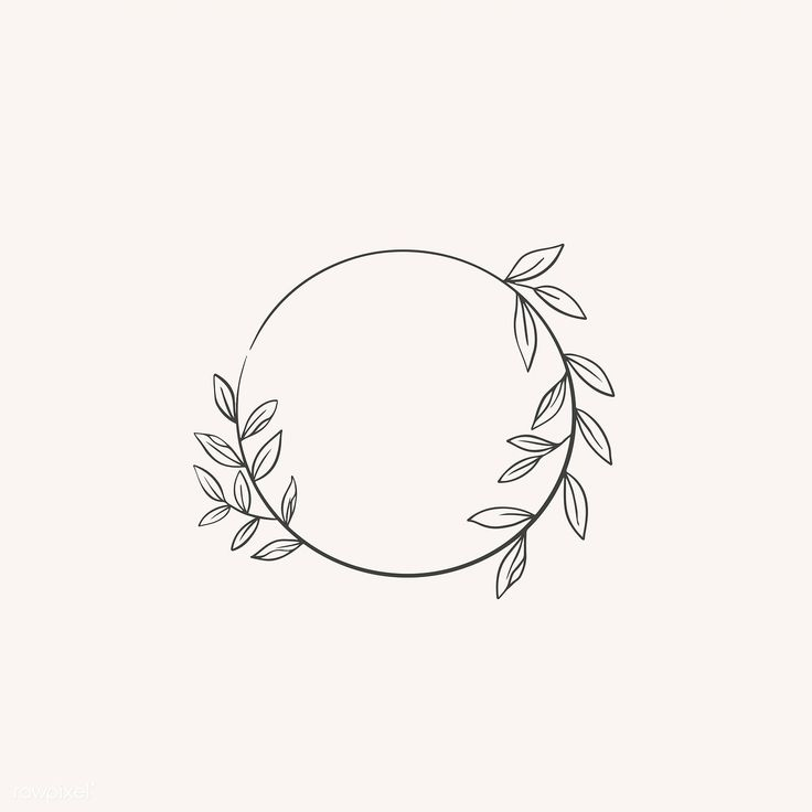 Download premium illustration of Round botanical frame element vector