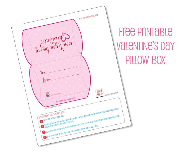 free printable pillow box | Valentine Ideas Gifts