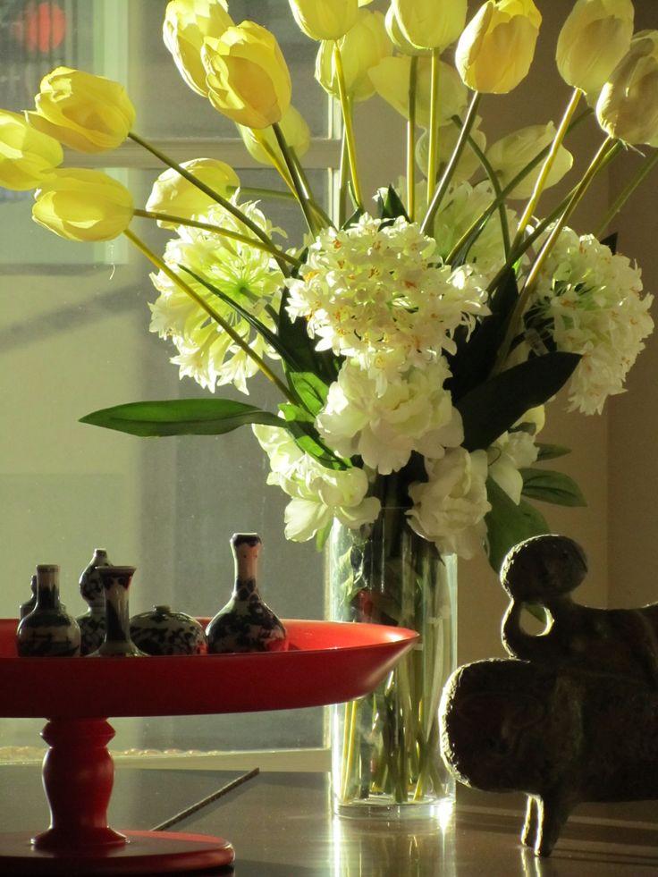 Silk Flower Arrangement Diy Flowers Pinterest Silk