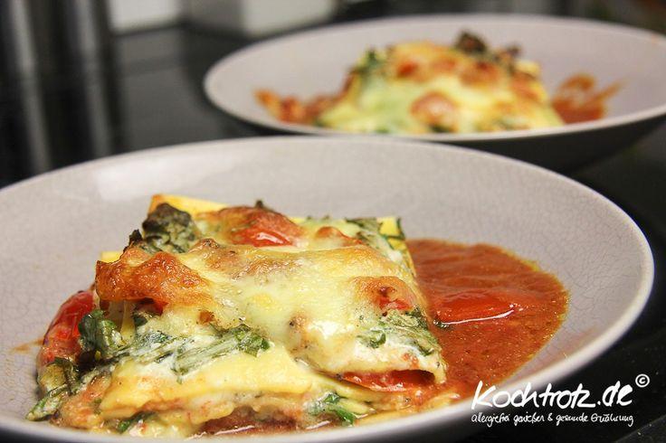 Rucola-Lasagne glutenfrei | KochTrotz - Food - und Reise Blog mit Rezepten für Gluten-Unverträglichkeit, Fructose-Intoleranz, Laktose-Intoleranz, Histamin-Intoleranz, Zöliakie, Sorbit-Intoleranz, vegan, vegetarisch, Fisch, Fleisch