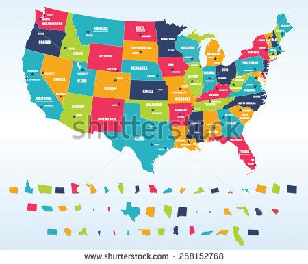 Best Maps Images On Pinterest World Maps Free Printable And - Us maps and capitals