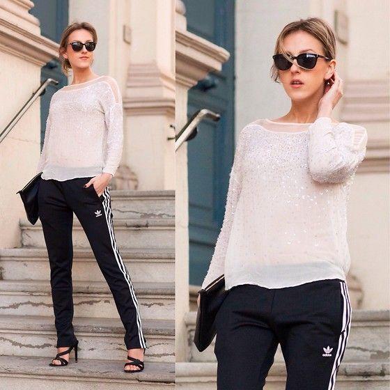 Anna Belle - Adidas joggers