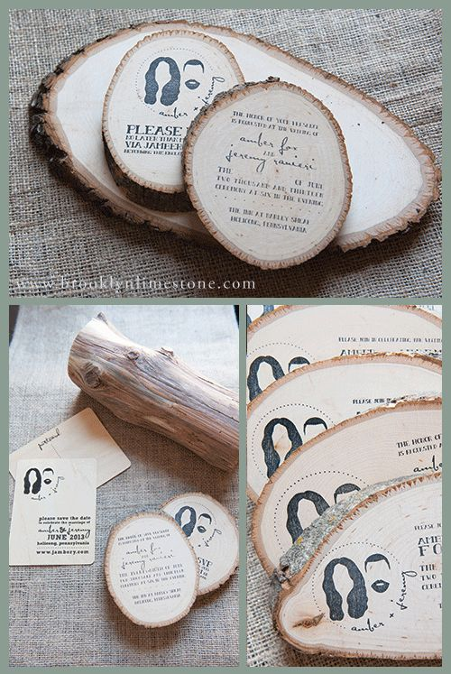 Brooklyn Limestone: Wooded Wedding Invitations (aka the most awesome invitations ever)