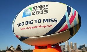 A World Cup 2015 ball in Sydney in September 2014.