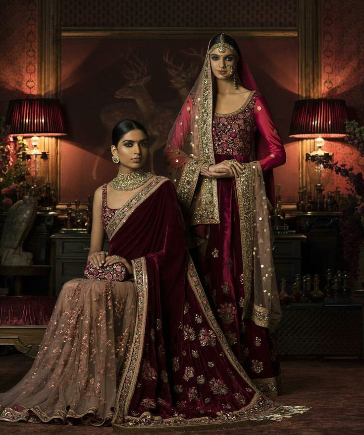 shades of red and velvet #sabyasachi2016 #perfection