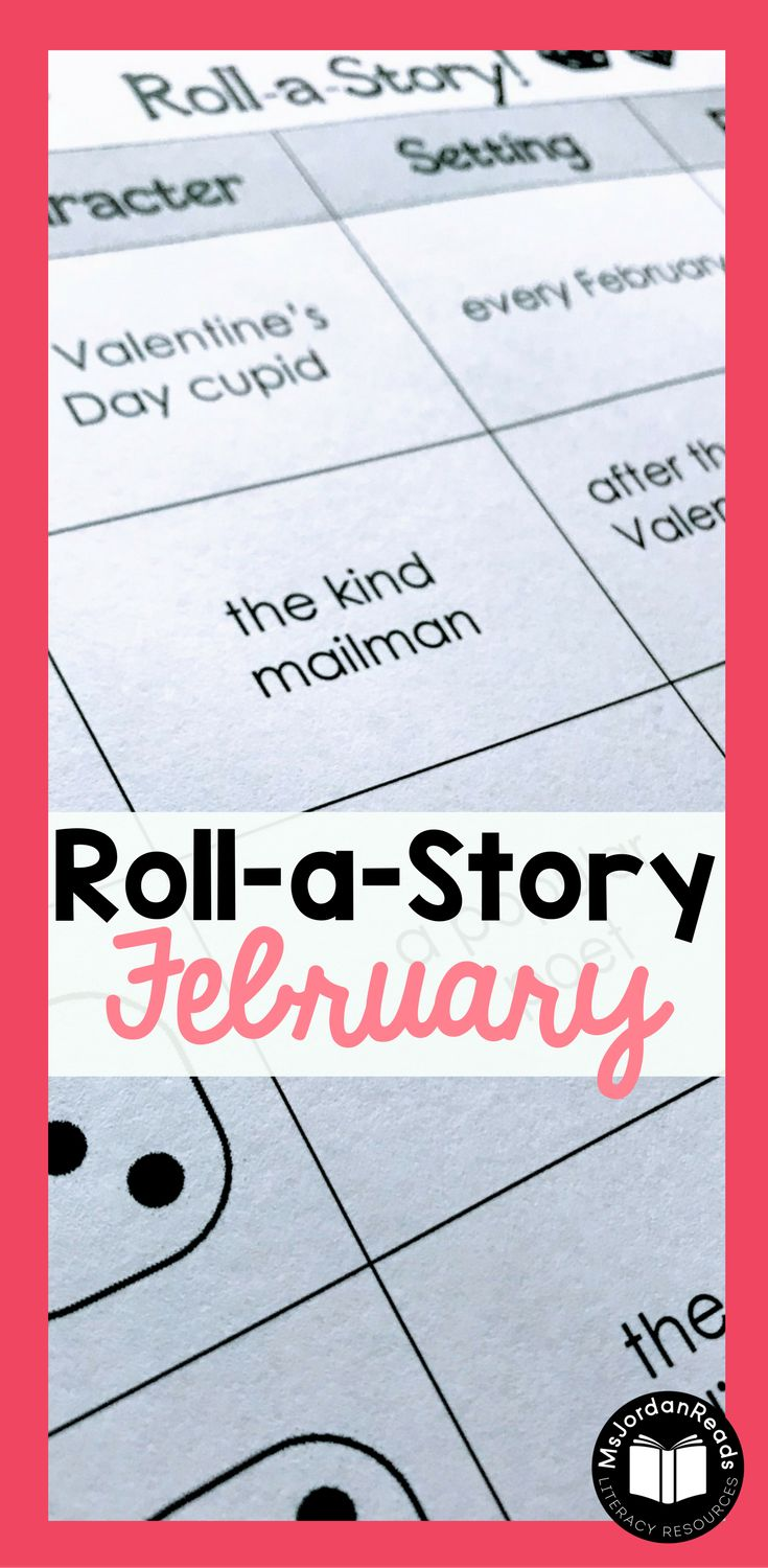 Story Starter Writing for February | Students will roll a dice to identify the story elements - characters, setting, and problem. | Teachers and parents can this resource to motivate writers who never know what to write about, or students who have difficulty coming up with ideas. It's perfect for struggling writers in the classroom! Includes Valentine's Day story element pages. (Gr. 2-4)