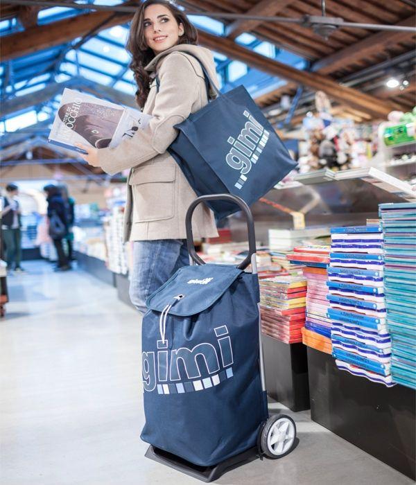 """Καρότσι λαϊκής ITALO """" Gimi"""" με τσάντα  αγορών"""