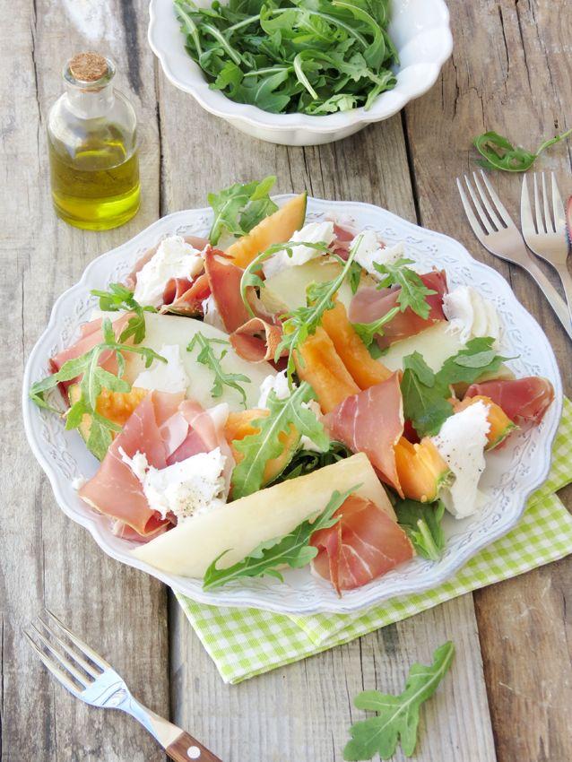 Melon, Prosciutto & Mozarella Summer Salad / Salada Reinventada de Melão com Presunto